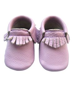 This Lavender Fringe Leather Booties is perfect! #zulilyfinds