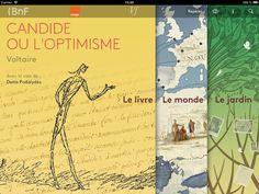 Candide, l'édition enrichie (Voltaire) : appli iOS par la BnF