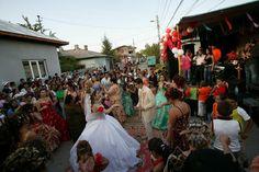 Roma gypsy wedding, by Peter van Beek.
