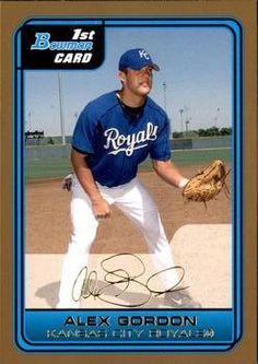 2014 Bowman Gold #59 Alex Gordon Kansas City Royals Baseball Card