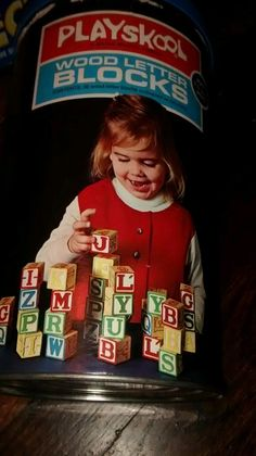 Vintage Antique 1972 Playskool Wood Letter Blocks   eBay