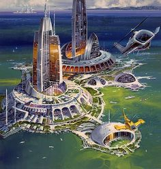 Future seaport city.  #FutureCity  #Seaport