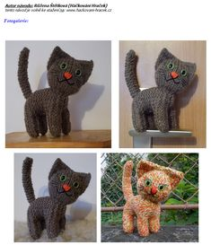kočka | Návody na háčkované hračky Minis, Dinosaur Stuffed Animal, Toys, Crochet, Animals, Amigurumi, Activity Toys, Animales, Animaux