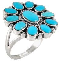 Sterling Silver Ring Turquoise R2259-C75