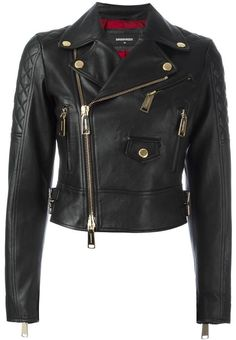 Dsquared2 quilted detail biker jacket https://api.shopstyle.com/action/apiVisitRetailer?id=613426143&pid=uid2500-37484350-28