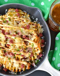 Reuben-Style Irish Nachos: Not surprising that these were awesome. So sad I forgot to add the sauerkraut because that would have put them over the top.