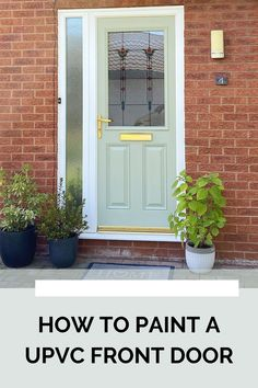 I used #frenchic paint for this #diyproject. Didn't think you could paint a uPVC front door? Think again! Follow my steps to try it yourself