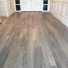 One of our jobs finishing up this week. We Refinished some existing red oak floo… One of our jobs finishing up this week. We Refinished some existing red oak floors homeowner wanted a unique and more modern look than just… Red Oak Stain, Red Oak Floors, Red Oak Wood, Grey Wood Floors, Grey Flooring, White Wood, Modern Wood Floors, Grey Stain, Flooring Ideas