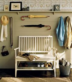 Could see this in our home except instead of umbrellas it would be rifles! Crazy backwoods husband!