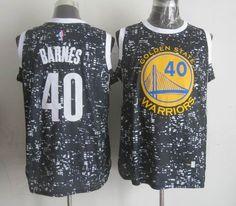 c40df074040 Golden State Warriors 40 Harrison Barnes Black City Luminous Jersey