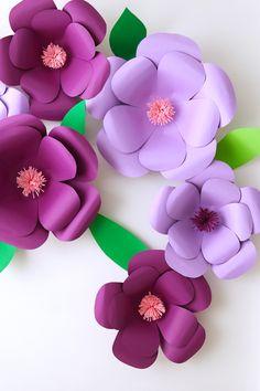 Como hacer Flores gigantes de papel – mifiestadecoraciones.com Blog