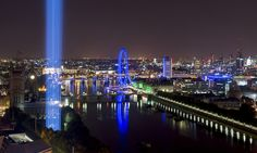 Light as Art! Spectra: the dazzling column of light over London commemorates the first world war.