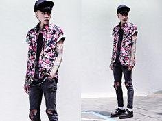 Tastemaker Shirt, Topshop Skinny, Topman Top, Underground Shoes, Uniqlo Socks