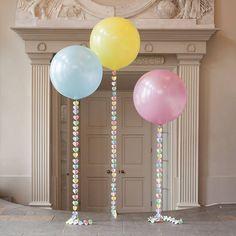 pastel rainbow giant heart balloon by bubblegum balloons | notonthehighstreet.com