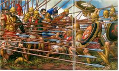 Falange macedone in battaglia, IV secolo a.C. (forse Cheronea)