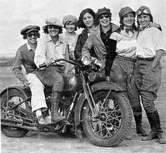 Ladies have always loved motorcycles...these old pics remind me of Silvia Waddell. I love the pics Larry has of her on motorcycles.