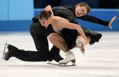 2014 Winter Olympics. Figure skating. Ice dance. Free skating
