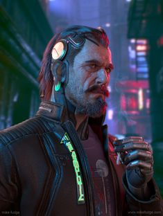 ArtStation - Cyberpunk portait, mike fudge Headgear reminiscent of Stark from Tron - incorporate older to new. Rpg Cyberpunk, Cyberpunk Games, Cyberpunk Aesthetic, Cyberpunk Fashion, Robert Smith, Fudge, Zbrush, Serious Game, Sci Fi Characters