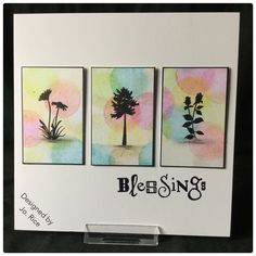 Clarity stamps, Distress inks and round mini blending tool