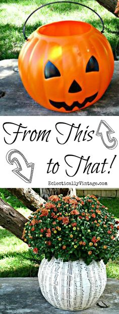 Plastic Pumpkin Idea