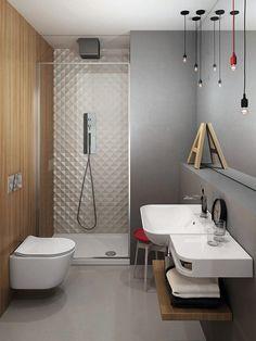 Esta sala de baño ha sido diseñada especialmente para espacios reducidos