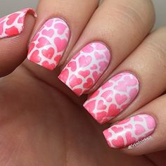 Heart Stencils for Nails, Nail Stickers, Nail Art, Nail Vinyls - Medium (16 Stencils) : Beauty