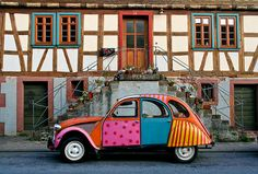 I so wanted one of these cars when I was a little girl visiting Germany. Especially if I found one pained like this!