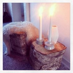 Love this idea to use tree root as a table. Tree Roots, Interior Decorating, Interior Design, A Table, Cosy, Candle Holders, Candles, Inspiration, Decoration