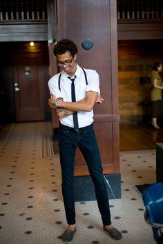 My husband would rock this outfit.