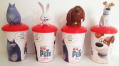 Secret Life of Pets Movie Theater Exclusive Cup Topper Set 1 Cups Popcorn Cups, Popcorn Buckets, Pets Movie, Secret Life Of Pets, Movie Theater, Cinema, Beverage, Movies, Ebay