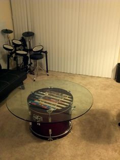 Drum table.