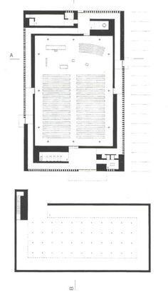 Herz jesu church, Munich, by Peter Zumthor Architecture Graphics, Architecture Drawings, Architecture Plan, Architecture Details, Harvard Architecture, Singapore Architecture, Peter Zumthor, Monumental Architecture, Religious Architecture