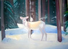 """white deer"" by Daisy Clarke 