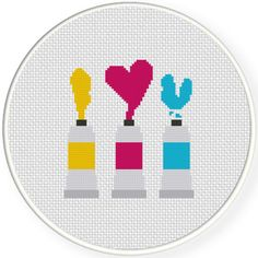 FREE for Nov 28th 2015 Only - I Love You Paint Cross Stitch Pattern