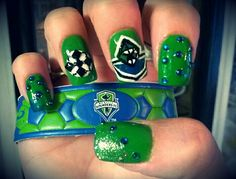Seattle Sounders Nails #SeattleSounders