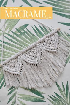 What is better than one mini macramé? Three, of course.   Ideal as a birthday/ Christmas present. Adding texture, character and rugged charm to any space.   This handmade Macramé Trio Wall Hanging is made 80% recycled cotton, sustainability eat your heart out!  Check out our listing on Etsy now, along with the rest of our Macramé creations :) Contemporary Office, Natural Texture, Natural Living, Recycled Materials, Wall Hangings, Decoration, Creative Art, Fiber Art, Mini