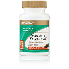 Immunity Formula I. To keep your immune system strong and in good working order, Immunity Formula I provides the essential nutrients for healthy immune function. Full nutrition potency is guaranteed with ShakleeGuard®, a patented blend of antioxidants and rosemary extract.