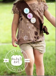 The perfect way to embrace summer! With a Summer Bucket List & Badges. This can be an activity for the whole family, create a Summer Bucket List wall in your home and keep track of all the cool stuff you do. Summer Activities For Kids, Toddler Activities, Diy For Kids, Cool Kids, Indoor Activities, Family Activities, Summer Diy, Summer Crafts, Summer Of Love
