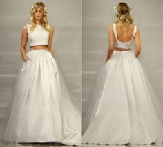 crop top wedding dress 15 Wedding Dress Details You Will Fall In Love With