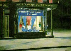 Edward Hopper - Pharmacie - 1927