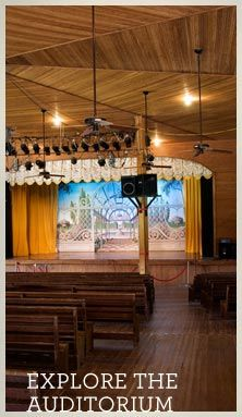 The interior of the historic Waxahachie, TX Chautauqua auditorium, from the preservation society's website.