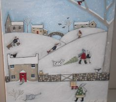 Louise Rawlings - Artists & Illustrators - Original art for sale direct from the artist Christmas Images, Christmas Crafts, Art For Kids, Kid Art, Original Art For Sale, Naive Art, Winter Art, Art Drawings Sketches, Artist At Work
