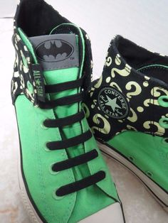 45750cffc400 Details about The Riddler Converse Chuck Taylor All Stars Batman DC Comics  Youth Boy Girl 3.5