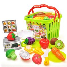 Kid Baby Classical Kitchen Toy Vegetables Fruit Cutting Plastic Pretend Set Chopping Board Pretend Food Toy Set Baby Kitchen Toy - Kid Shop Global - Kids & Baby Shop Online - baby & kids clothing, toys for baby & kid Pretend Food, Play Food, Pretend Play, Pretend Kitchen, Classical Kitchen, Vegetables For Babies, Baby Shop Online, Toy Kitchen, Kitchen Sets