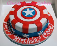 captain america cake ideas | captain america shield cake my first task for this cake was to ...