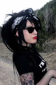 This traditional #Goth girl has just the right amount of attitude