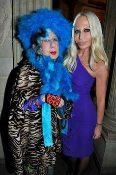 Anna Piaggi, Italian Fashion Icon and Style Journalist, & Donatella Versace, Italian Designer.