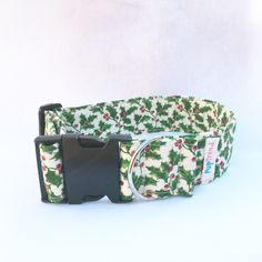 Holly & Ivy Christmas Dog Collar - Clearance! 50% off!