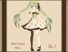 . : Tda Mint Chocolate Miku DL : . by Sushi-Kittie.deviantart.com on @DeviantArt