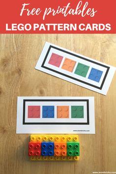 Free LEGO Pattern Cards| LEGO Activities for preschoolers| Actividades educativas con ladrillos LEGO DUPLO| Recursos gratis| www.mombricks.com